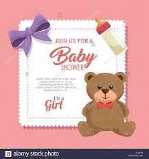 teddy bear baby shower invitations baby shower invitation card stock vector art u0026 illustration