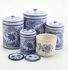 italian kitchen canisters hand painted blue and white ceramic canisters including italian