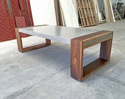 Polished Concrete And Walnut Coffee Table Projects Floatdesign Co