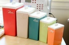 colored kitchen canisters colorful canister sets foter
