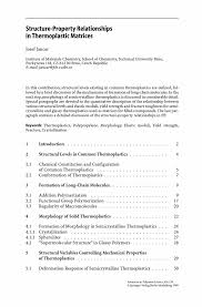 Social Service Worker Resume Sample by Structure Property Relationships In Thermoplastic Matrices Springer