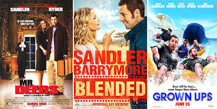 streaming site netflix signs sandler up for four movie deal give