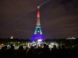eifel tower orlando shooting see the eiffel tower lit up for victims time