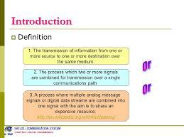 Multiplex Definition Digital Transmission Outlines Multiplexing Fdm Tdm Wdm Ppt