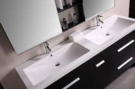 design element perfecta double integrated white acrylic drop in