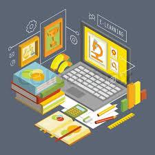 design online education vector concept for online education flat 3d isometric design