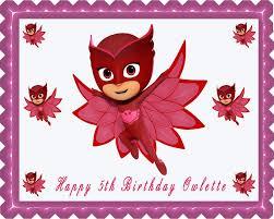 pj masks 4 owlette edible cake topper u0026 cupcake toppers u2013 edible