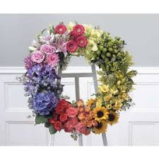 sympathy and funeral wreaths hearts and crosses big lake florist