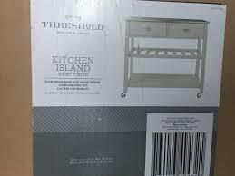 threshold stainless steel open kitchen island gray ebay