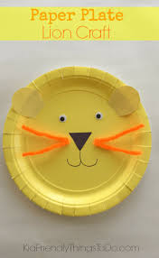 easy to make a lion paper plate craft for kids paper plate