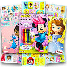minnie mouse easter baskets disney easter coloring and activity book set with stickers 3 books