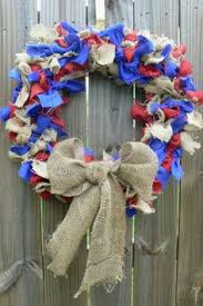 burlap wreaths for sale white blue burlap wreath independence day summer