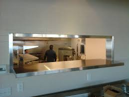 commercial kitchen pass through window