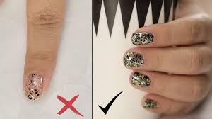 how to apply glitter nail polish nail painting tips youtube