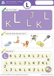 uppercase letter l alphabet worksheet from super simple learning