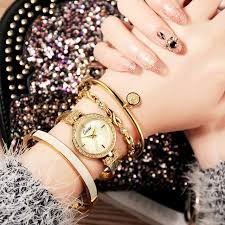 crystal bracelet watches images Buy cacaxi watch women set 4pcs ladies luxury jpg