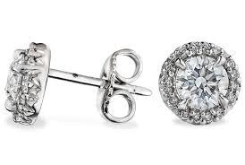 large stud earrings large halo diamond stud earrings in 18kt white gold ritani