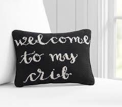 Nursery Decorative Pillows Modern Black And White Baby Nursery Inspo Crib Pillows And Nursery