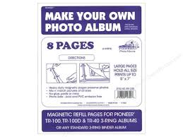 photo album pages for 3 ring binder pioneer refill page magnetic album tr 100 4pc createforless