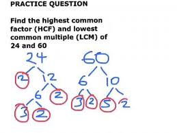 highest common factor hcf and lowest common multiple lcm