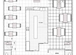 Central Kitchen Saffroniabaldwin Com Centralized Kitchen Floor Plans
