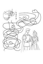 labyrinthe sauve la princesse aurore disney coloriages fr