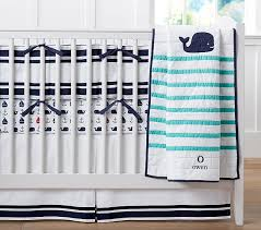 Whale Crib Bedding Htons Whale Baby Bedding Pottery Barn