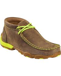 twisted x boots s bomber amazon com twisted x boys and neon yellow leather driving mocs