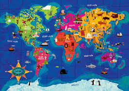 Map Of The World Art by Welcome To The Portfolio Of Johnny Yanok
