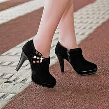 womens boots office s shoes nz chunky heel heels platform bootie toe