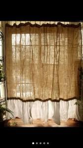 quick easy and cheap burlap no sew curtains u2026 pinteres u2026