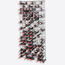 wine enthusiast 144 bottle metal grid wine rack bed bath u0026 beyond