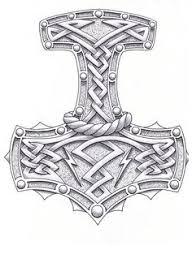 thor hammer tattoo thor s hammer tattoo viking tattoos thor