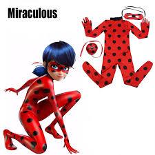 Halloween Costume Ladybug Aliexpress Buy Kids Women Girls Miraculous Ladybug Cosplay