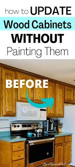 how to make cheap kitchen cabinets look better updating wood kitchen cabinets remodeled