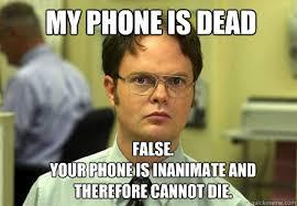 Dead Phone Meme - schrute memes quickmeme