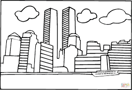 world trade center before 9 11 coloring page free printable