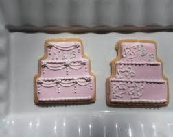 Wedding Cake Cookies Wedding Cake Cookies Etsy