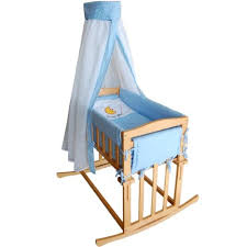 honey bee baby cradle rocking crib and bedside bed 3 in 1 blue
