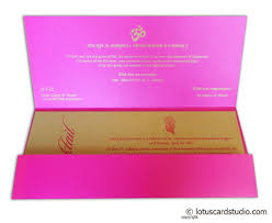 Special Invitation Card Marriage Invitation In Mexican Pink With Mantras