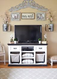 easy farmhouse style tv stand makeover feeling blah tired and