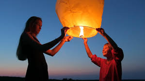 How To Make Paper Air Balloon Lantern - two launching a sky fly lantern to make a