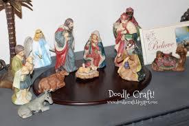 doodlecraft porcelain white nativity set
