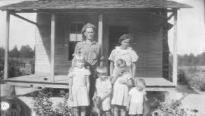 depression era historic photo the w f scott family during the depression era