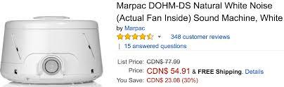 amazon white noise fan amazon canada deals save 51 on marpac dohm ds natural white noise