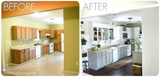 Before And After Kitchen Cabinet Painting Paint Kitchen Cabinets Before And After Faced