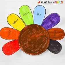 thanksgiving material learn and color thanksgiving turkey craft and free template for kids