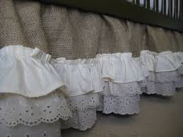 burlap ruffle crib skirt by creativecaterpillar on etsy 160 00