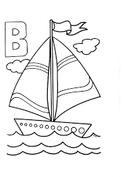 letter b coloring page printable free barco kids pages for free