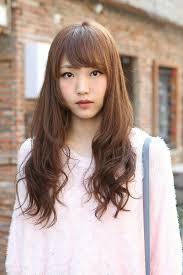 nice koran hairstyles cute korean hairstyle for girls long brown hair with bangs